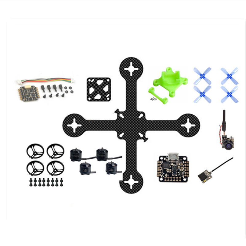 16mm x 16mm FPV DIY 110mm pure carbon BNF frame kit quadcopter unassembled brushless micro indoor drone FC mounting holes mini vx110 110mm quadcopter frame kit wheelbase micro carbon frame 2 5 inch propeller for rc indoor micro fpv racing drone diy