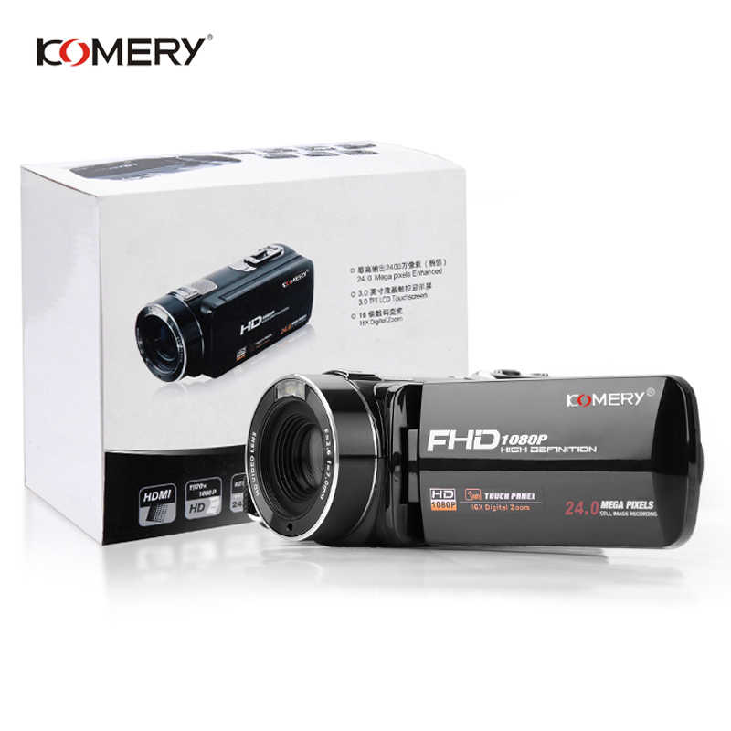 "Original KOMERY Video Camera Full HD Portable Digital Camcorders 16X Digital Zoom 3.0"" Touchscreen Digital Anti-shake Camera"