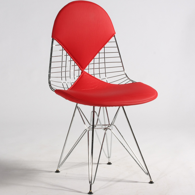 Eames Chair Cushion Kids Covers Huo Sen Rail Passenger Eiffel Wire Has A Metal Cushions Tide
