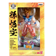 New Comic Anime Dragon Ball Z The Son Goku Gokou The Brush Battle Banpresto Super Master Stars Diorama 23cm Action Figure цена