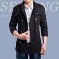 Woolen Coat Male New 2016 Leisure Double-Breasted Male Wool Coat Fashion Winter Warm Casual Business Coat Men