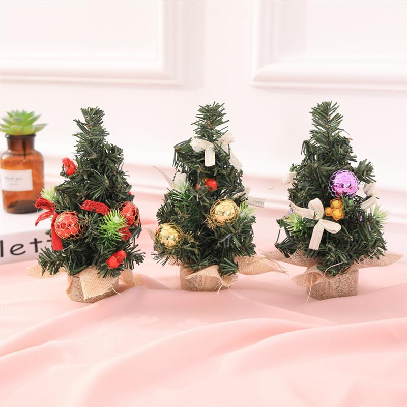 Mini Christmas Tree Desk Decoration New Year Bedroom Pine
