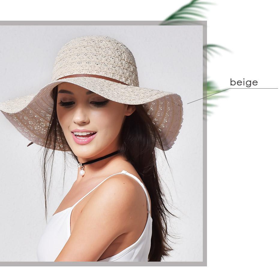 3d10238f FURTALK Summer Hats for Women Fashion Design Women Beach Sun Hat Foldable  Brimmed Straw Hat