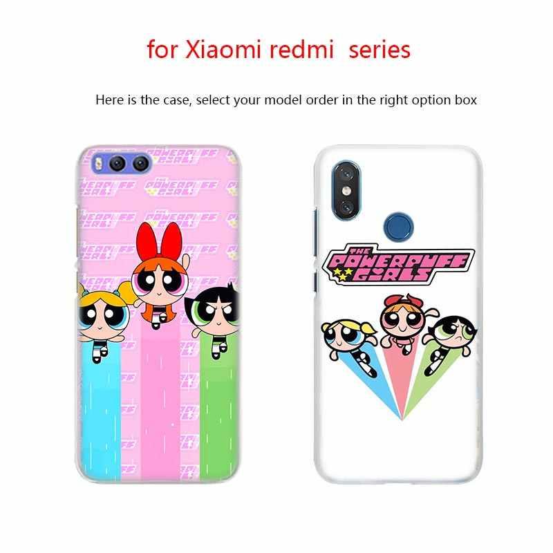 BinFul telefone caso capa Dura Transparente para Xiao mi mi mi Vermelho Nota 7 5 4 3 4X 5A 6 pro 64g S2 Mais As Meninas Superpoderosas