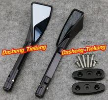 CNC Aluminum L&R Rear Side Mirrors For Suzuki GSXR1000 2001-2004 GSXR600 GSF1200S SV1000S 2003-2007 & SV650S 2003-2008, Black