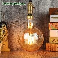 Big Size G150 Vintage Led Lamp Edison Bulb Soft LED Filament Decor Bulb 8W 220V Light