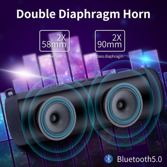 Ecoboseo altoparlante del Bluetooth Portatile di Altoparlanti Senza Fili Per Il Calcolatore Del Telefono Musica Stereo surround Impermeabile Altoparlanti Esterni 3