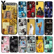 Yinuoda Billie Eilish Hot Music Singer Star TPU Soft Silicone Phone Case Cover for iPhone X XS MAX 6 6S 7 7plus 8 8Plus 5 5S XR