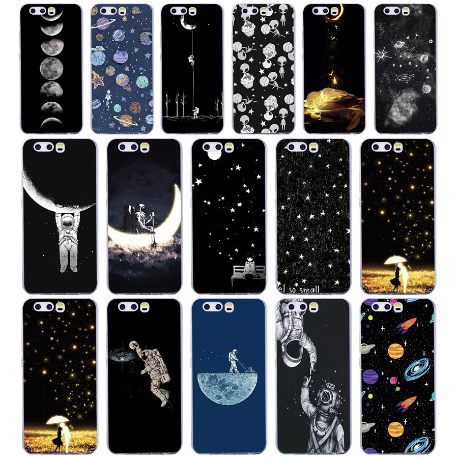 Cellphones & Telecommunications Phone Bags & Cases Diligent 73g Sky Space Planet Black And White Sun Moon Case For Huawei P10 Case Cover Soft Silicone For Huawei P10 Case Tpu Cover Bag