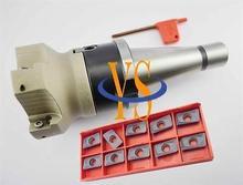 New NT40 M16 FMB27 45L + BAP400R-80-27-6T face end mill  + 10pcs APMT1604 carbide insert CNC milling