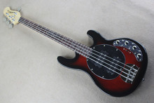 free shipping Top Quality New font b music b font man stingRay 4 strings red Electric