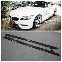 E89 Z4 автомобилей углеродное волокно 3D Стиль сбоку юбка обвесы бампер для BMW E89 Z4 автомобильные аксессуары для укладки 2009 2015