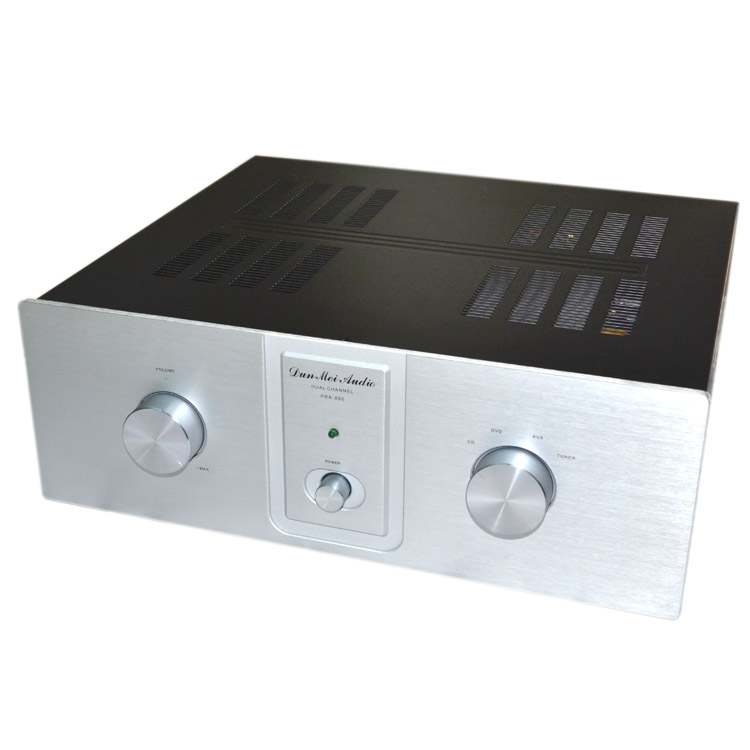 Finished PR-800 High Power 200W+200W HiFi Power Amplifier MJE15034 MJE15035 Stereo Audio Amplifier