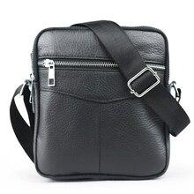 2016 New Casual petits hommes de sac en cuir véritable marque hommes messenger sacs hommes d'affaires mini Épaule Sac bandoulière sacs pour hommes