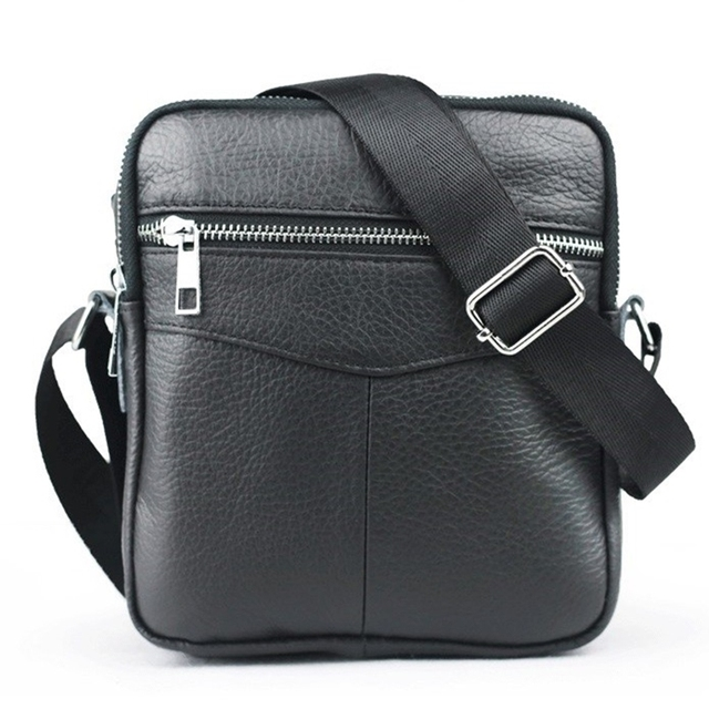 2016 Novo Ocasional pequeno saco de couro genuíno dos homens dos homens da marca sacos do mensageiro homens de negócios mini Shoulder Bag crossbody sacos para homens