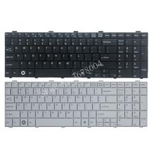 แป้นพิมพ์USใหม่สำหรับFujitsu Lifebook AH530 AH531 NH751 A530 A531สีดำภาษาอังกฤษแป้นพิมพ์แล็ปท็อป