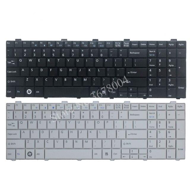 新usキーボード富士通lifebook AH530 AH531 NH751 A530 A531黒英語ノートパソコンのキーボード