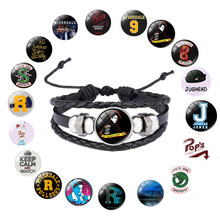 Riverdale TV Series Pop's Chock'lit Shoppe Logo Charm Bracelet Metal Pendant leather Bracelets Bangles For Men Women Gifts(China)