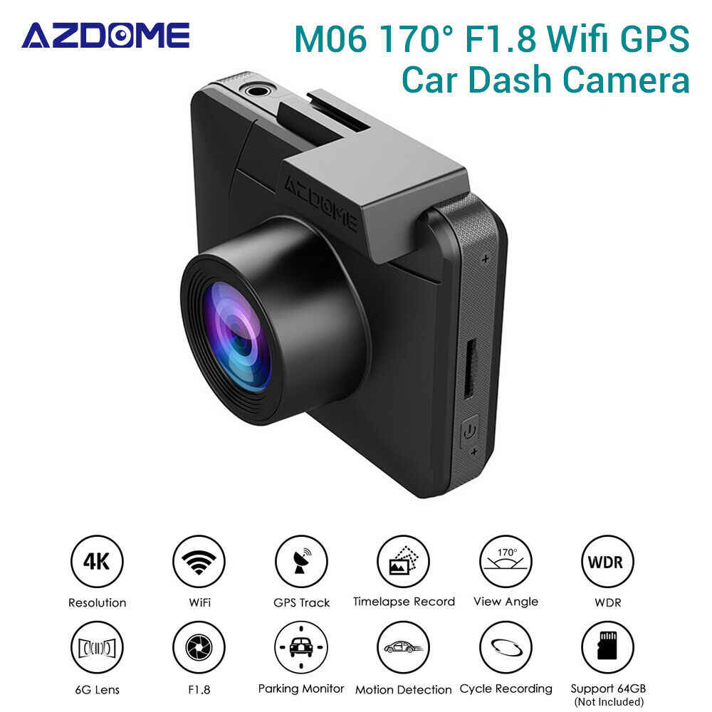 AZDOME M06 4K HD 2160P/24FPS Ultra GPS WIFI Vehicle Car Dash Camera Video Recorder DVR