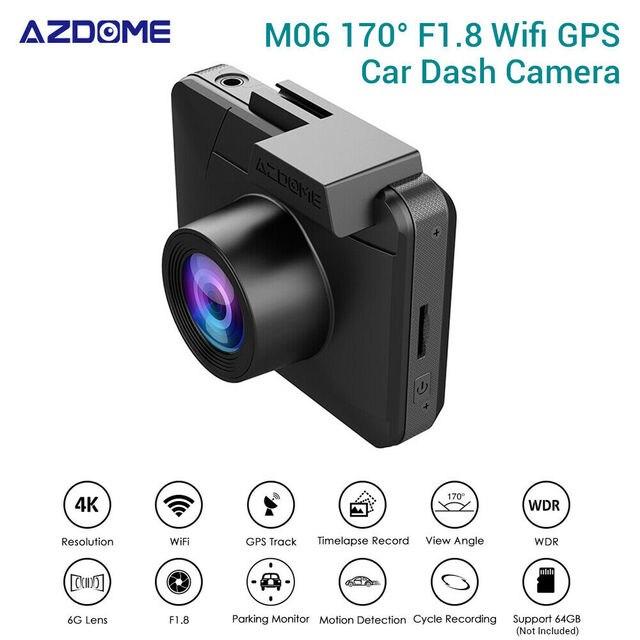AZDOME M06 4K HD 2160P/24FPS Ultra GPS WIFI Vehicle Car Dash Camera Video Recorder DVR