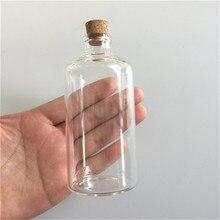 47x100x12.5mm 110 ml Limpar Frascos De Vidro Transparente Recipientes Deriva Garrafas de vidro Com Rolhas de Garrafas de Vidro Vazias 12 pcs