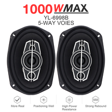 2pcs 6x9 Inch 1000W 5 Way Car Coaxial Speaker Auto Music Stereo Full Range Frequency Hifi Loundspeaker Non-destructive