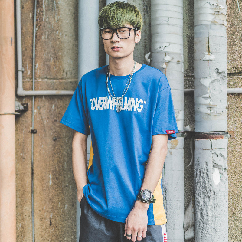 Funny Aesthetic Overwhelming Print Cotton T Shirt for Men Urban Boys Street Wear Hiphop Graphic Short Sleeve Tee Oversized S-XXL 8