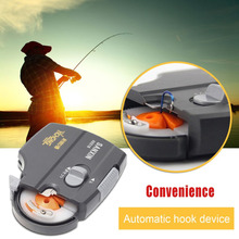 New Portable Automatic Electric Hook Tier Machine For Fishing hooks Fishhooks & Fishing Line Tier device Fishing Tackle Tools dr
