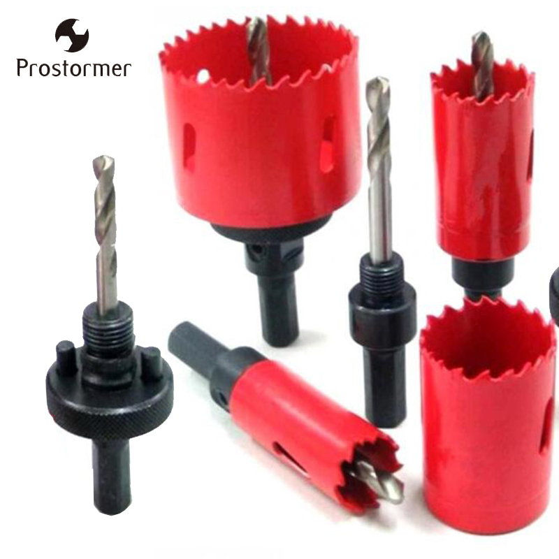 Prostormer M42 Drilling Hole Saw Drill Bit Reamer Cutting Kit Opener Drill Bit Holesaw For Aluminum Iron Stainless Steel Plate