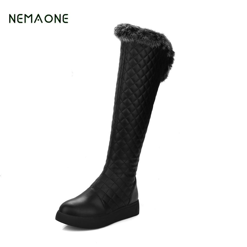 NEMAONE 2017 women shoes boots Australia fashion Women black Snow Boots Fur Snow Boots Warm Wool Winter Boots nemaone 2017 new snow boots women winter black flat platform ankle boots ladies fur warm australia boots