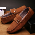 Plus Size 38-46 Real Leather Men's Driving Loafers 2017 Blue Brown Mens Brand Gommino Loafers Moccasin Comfort Slip On Man Flat