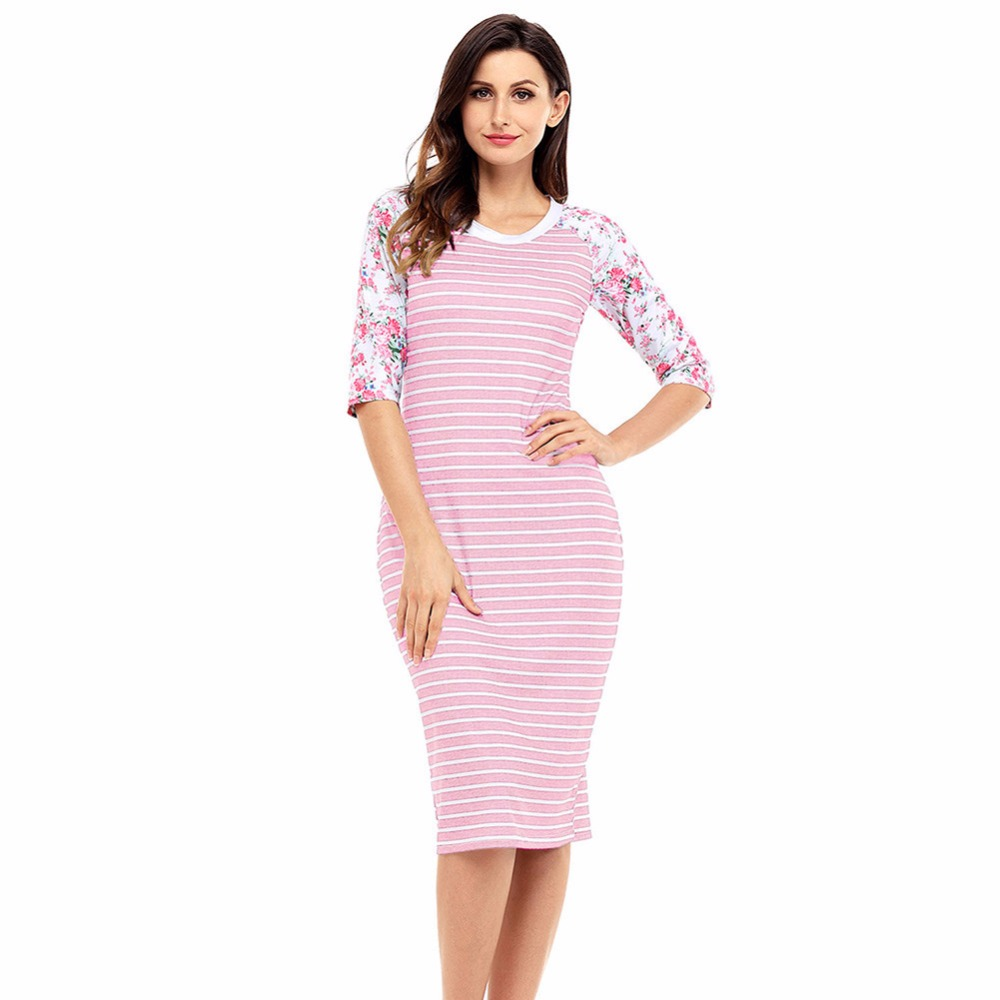 Egnmc Striped Dress Preppy Style Las Women Autumn Winter Thick O Neck Empire Casual Straight Y Slim Skinny Dresses In From S Clothing