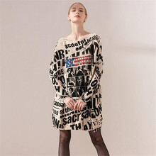 047d1df3de Fashion women Autumn winter sweater big size High quality letters print  Loose Warm knitwear sweater pullover Female sweaters