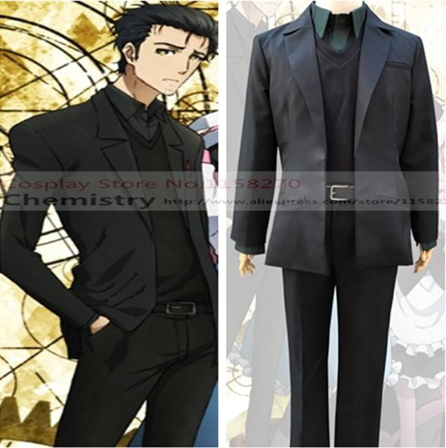 Free shipping Steins Gate Rintaro Okabe Rintarou Okabe Cosplay new suit  Costume ce633cba8d2b