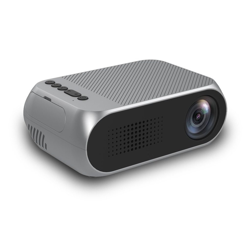 High Definition 1080P Portable LED Projector Mini Home Use Projector With Speaker Mini Beamer Good for Preschool Education New mini home high definition led projector w hdmi port white
