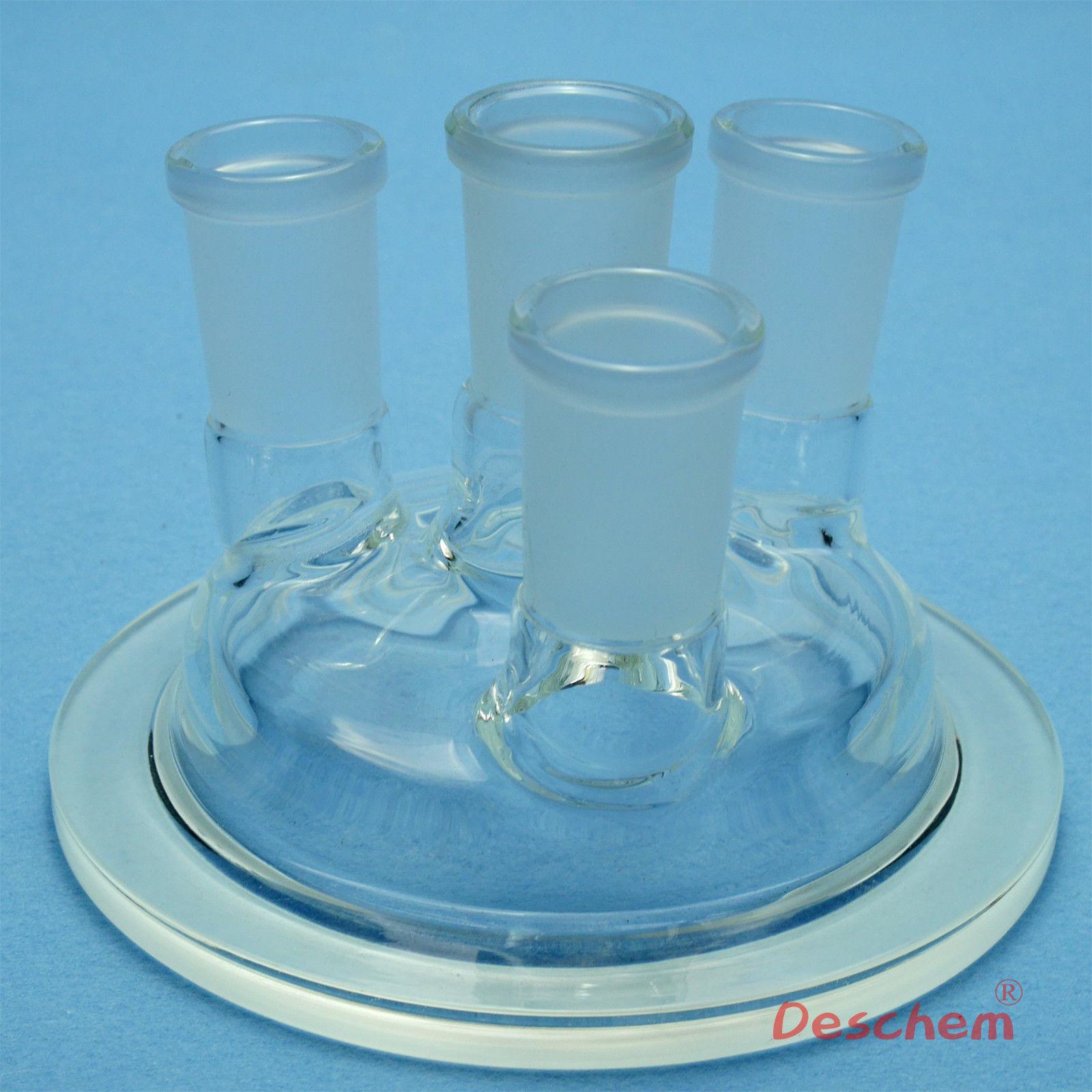 24/40, 100mm, tapa de Reactor de vidrio, DN100, cuatro cuellos, cristalería de laboratorio-in Botella de laboratorio from Suministros de oficina y escuela    1