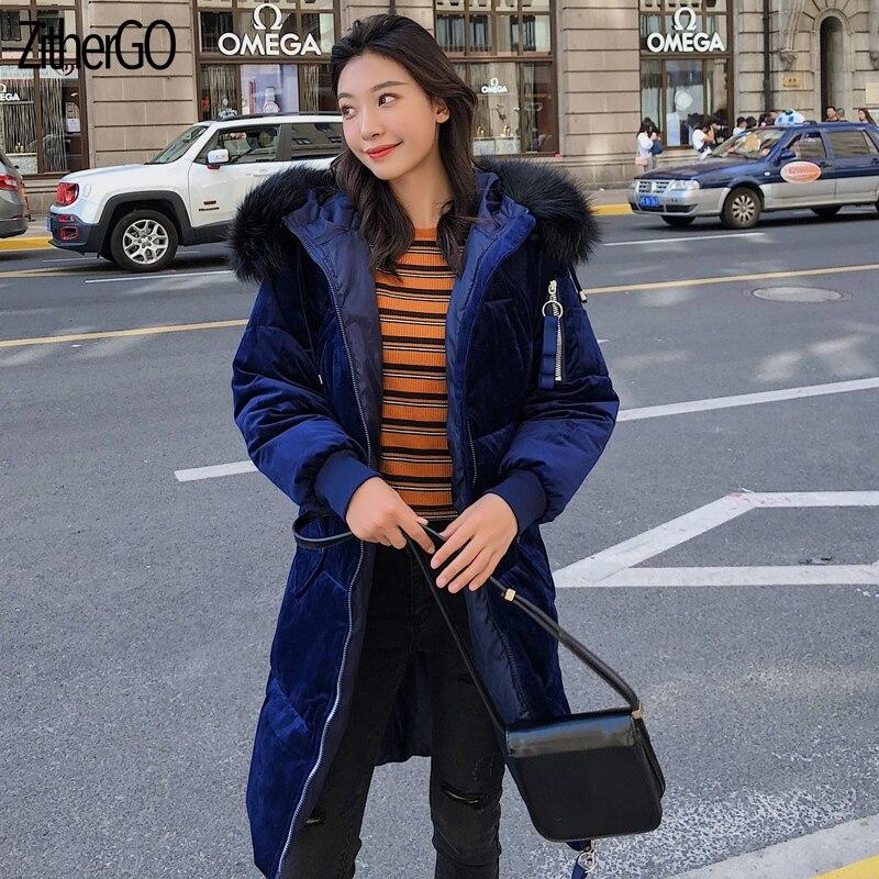 ZitherGo Hooded Parka Vrouwelijke jas Jas Plus Size Winterjas Vrouwen Casual Beneden Katoen Uitloper Dames Outfit
