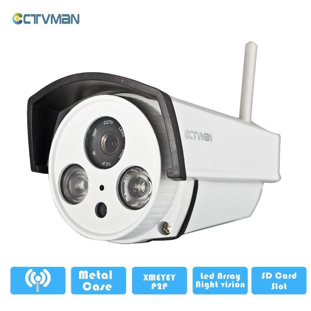 CTVMAN IP Camera Wifi Outdoor Home Infrared Wi-fi Cameras CCTV Security Support Andriod IOS SD Card Camara de Vigilancia видеодомофон kdoor wifi ios ip ce rohs kdoor 6
