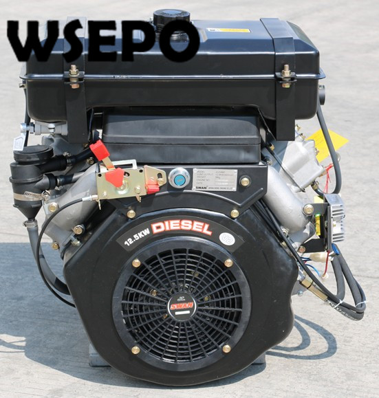 US $999 0 |Factory Direct Supply! WSE 2V86F 836CC 20HP 12KW V Twin Cylinder  Horizontal Shaft Air Cooled Diesel Engine With Electric Start-in Generator