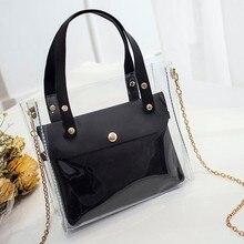 2019 the new handbag Fashion Lady Shoulders Jelly Package Handbag Purse Mobile Phone Messenger Bag