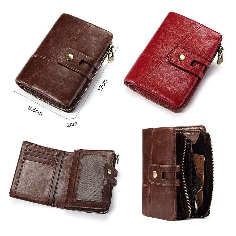 GZCZ Genuine Leather Men Wallet Coin Purse PORTFOLIO Man Walet Zipper Design Male Clutch Fashion Card Holder Money Bag Perse