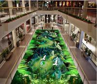 Modern Custom 3D Floor Mural Animated 3D Outdoor Floor PVC Wall Paper Self adhesive Floor Mural 3D Wallpaper
