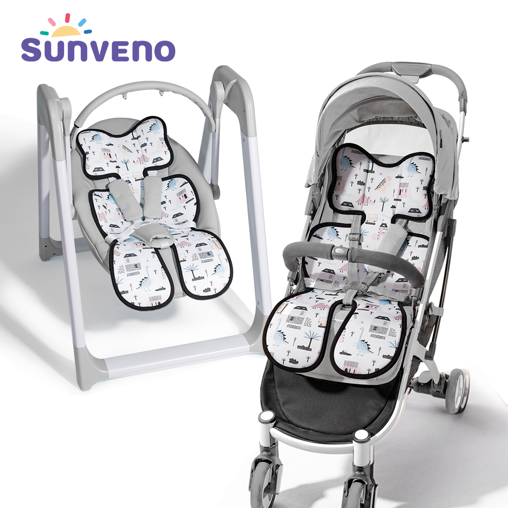 Sunveno Baby Stroller Accessories Comfortable Cool Baby Stroller Liner General Seat Cushion Kids Pushchair Cushion Stroller Pad