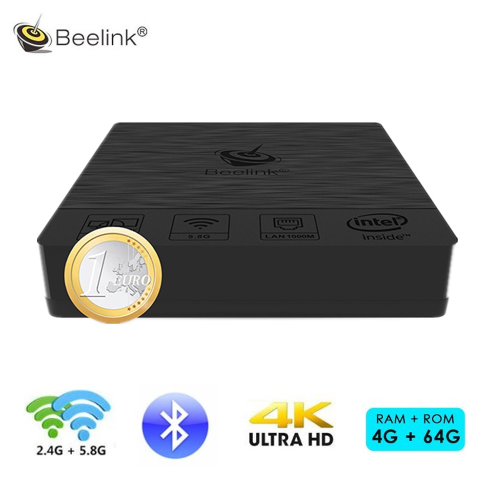 Beelink BT3 Pro Mini PC 2.4/5.8GHz Smart TV Box Widws10 Intel Atom X5-Z8350 64Bit WiFi Bluetooth 4.0 4GB RAM 64GB Set-top Box z83v mini pc tv box intel atom x5 z8350 fanless x86 mini pc lan usb 2gb ram 32gb rom bluetooth wifi set top box