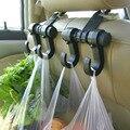 Automóvel duplo Gancho Compras De Supermercado Diariamente Prendedor de Gancho Titular Assento de Carro de Volta Suprimentos Auto Acessórios Interiores Gancho Clipe #