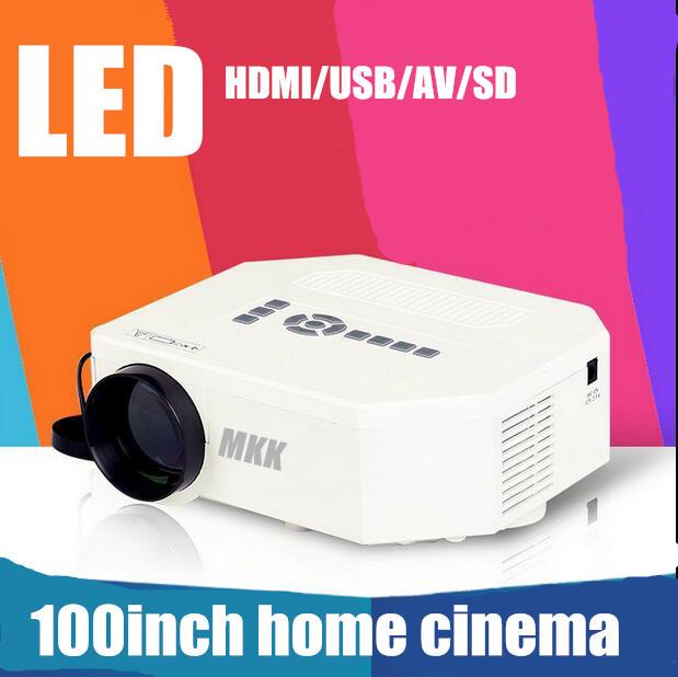 Lo nuevo Portátil Pocket Mini Juego LED Digital VGA Video Proyectores con HDMI VGA AV USB SD proyector casero