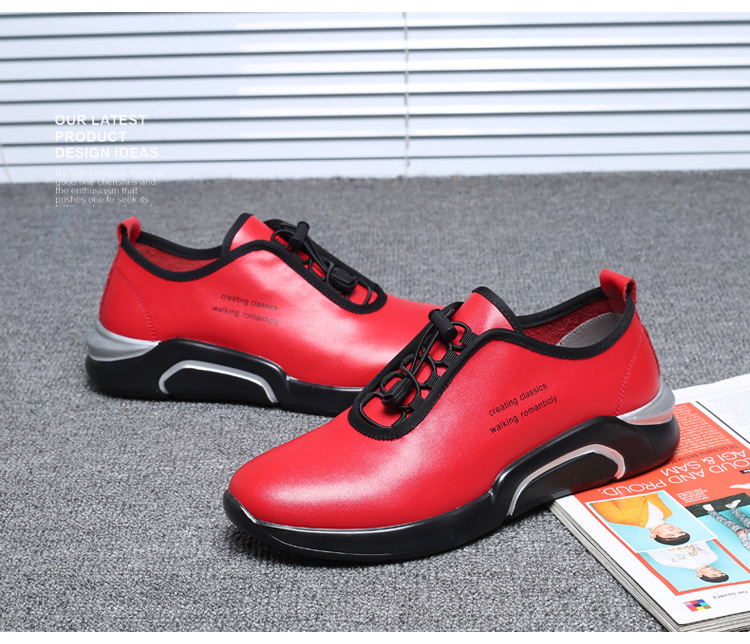 Spring Autumn Men Casual shoes Genuine leather Breathable Male Sneakers Lace-Up Flats Sport shoes zapatos de hombre 02A 16