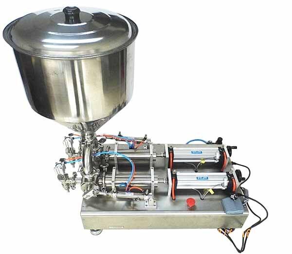 Простая в эксплуатации двойная головка полуавтоматическая машина для наполнения сливок G1WG 2G 100