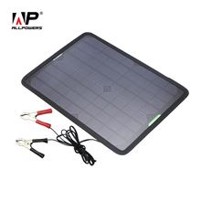 ALLPOWERS  12V 18V 10W Solar Panel Car Battery Maintainer Charger for 12V Battery Car Automobile Motorcycle Boat