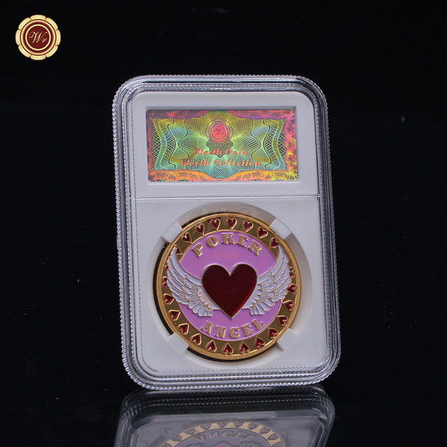 US $7 5  WR Art Crafts Shop Challenge Coins Metal Engrave Casino Poker Coin  Metal Love Pink Token Coin for Collection Valentine Ideas-in Non-currency